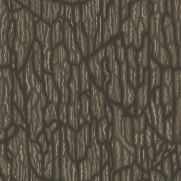 A dark wood cartoon style texture Free Vector