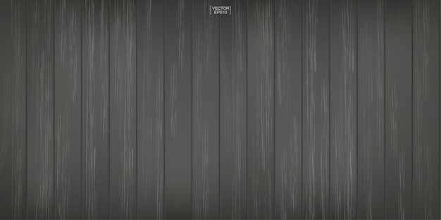 Dark wood pattern and texture for background. Premium Vector
