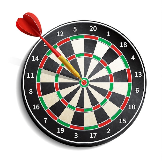 Dart Board Realistic Free Vector