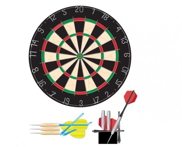 Dartboard vector illustration Free Vector