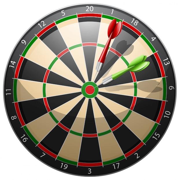 Dartboard with arrows Free Vector