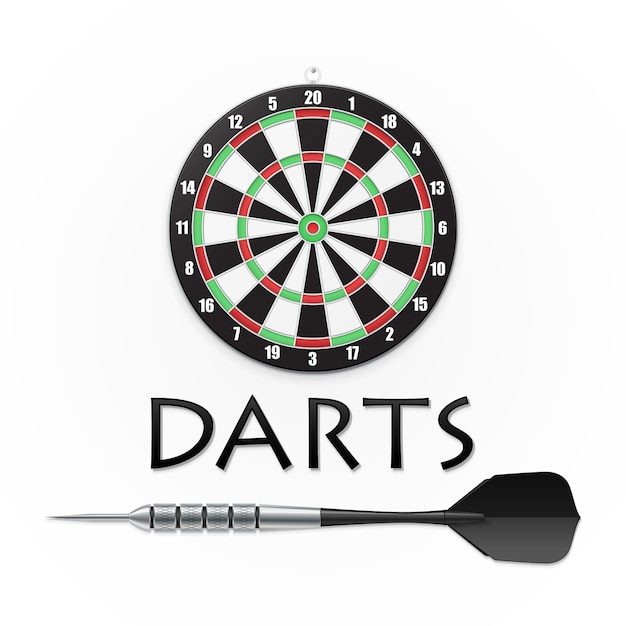 Darts and arrow Premium Vector