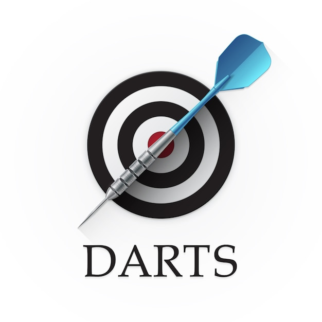 Darts game emblem Premium Vector