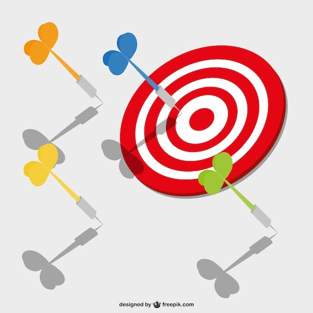 darts target and red bullseye vector free download