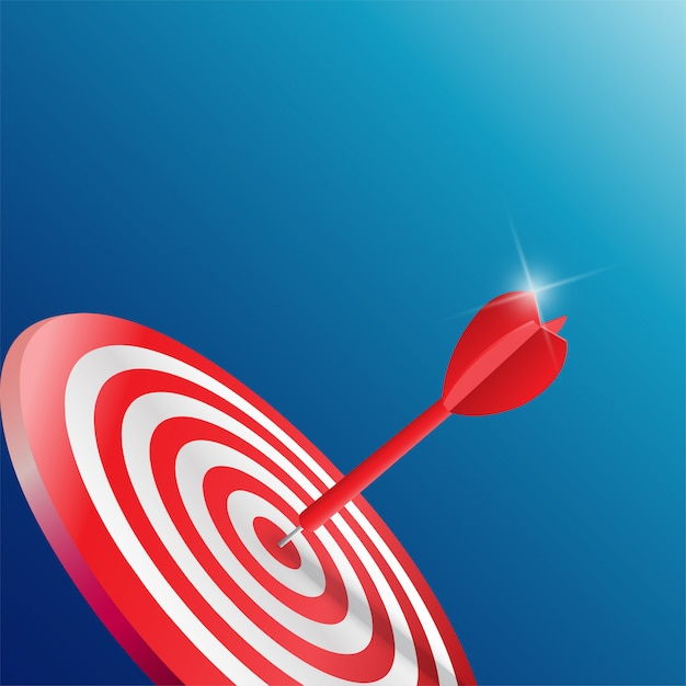 Darts target. success business concept Premium Vector