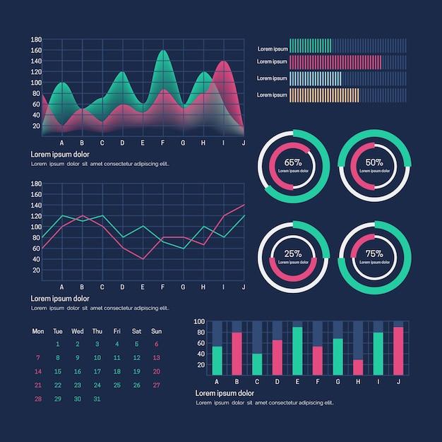 Шаблон панели пользователя панели инструментов Бесплатные векторы