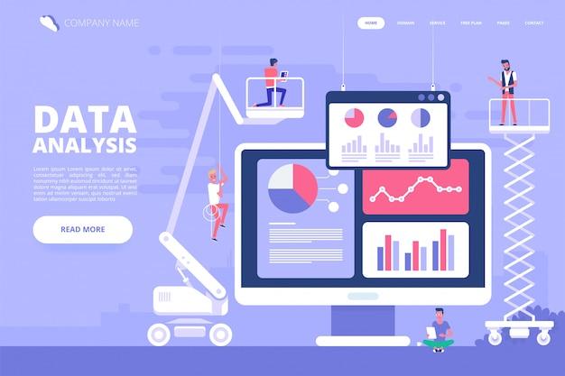 Data analysis design concept. vector illustration. Premium Vector
