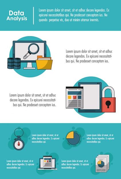 Premium Vector | Data analysis infographic concept