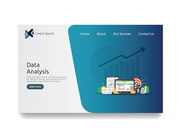 Data analysis spreadsheet Premium Vector