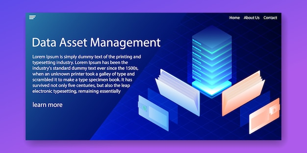 Data asset management system Premium Vector