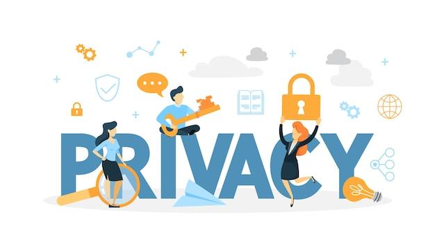 Data privacy concept illustration Premium Vector