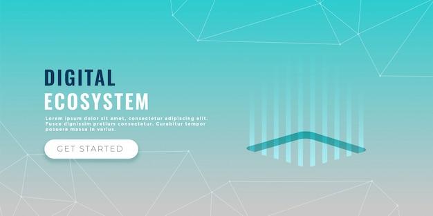 Data processing concept banner design Free Vector
