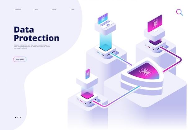 Концепция защиты данных. цифровой канал безопасности деньги защищают безопасный доступ целевая страница программного обеспечения безопасности интернет-безопасности Premium векторы