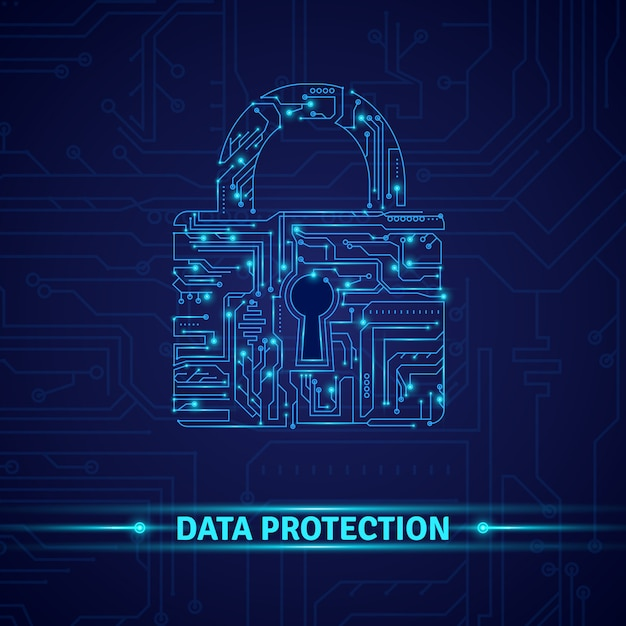 Data protection concept Free Vector