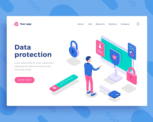 Data protection concept Premium Vector