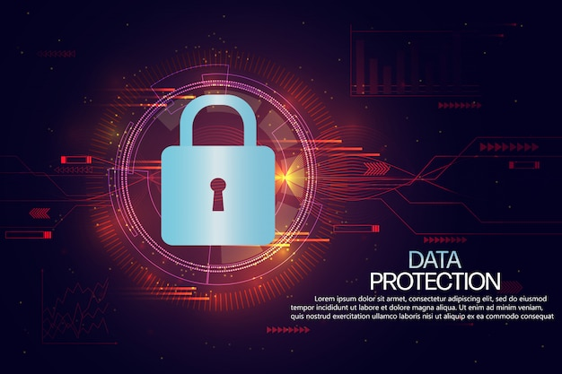 Data protection and insurance  background template Premium Vector