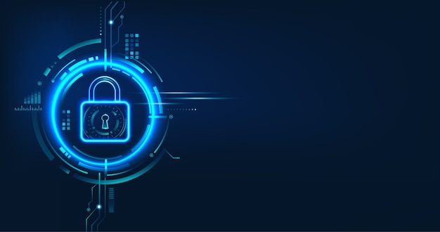 Data security concept design for personal privacy, data protection, and cyber security. Premium Vector