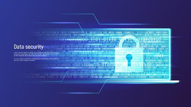 Data security, information protection, access control concept. Premium Vector