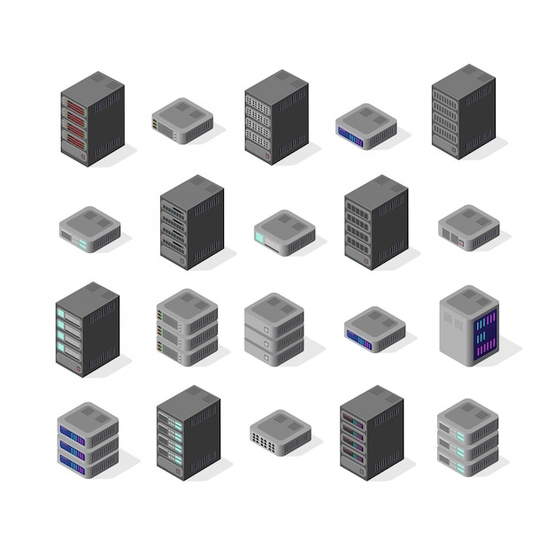 Data server network Premium Vector