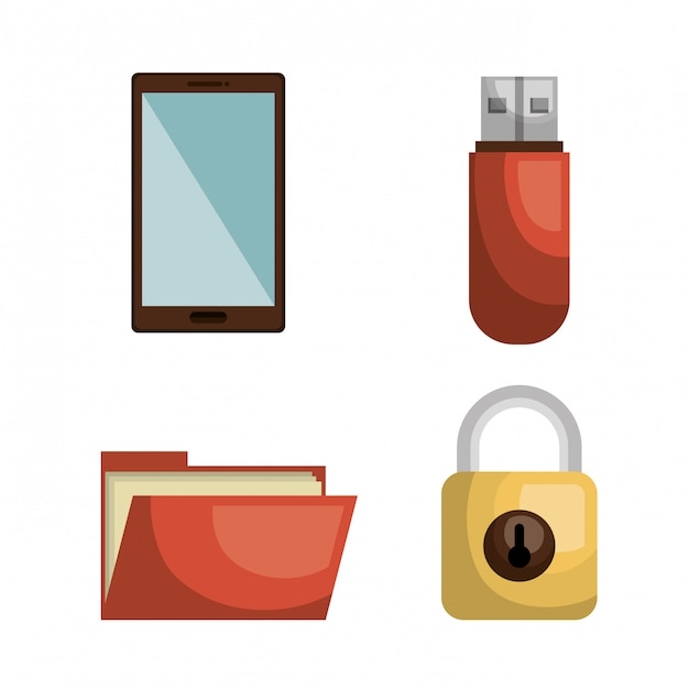 Data storage design Free Vector