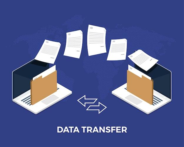 Data transfer Premium Vector