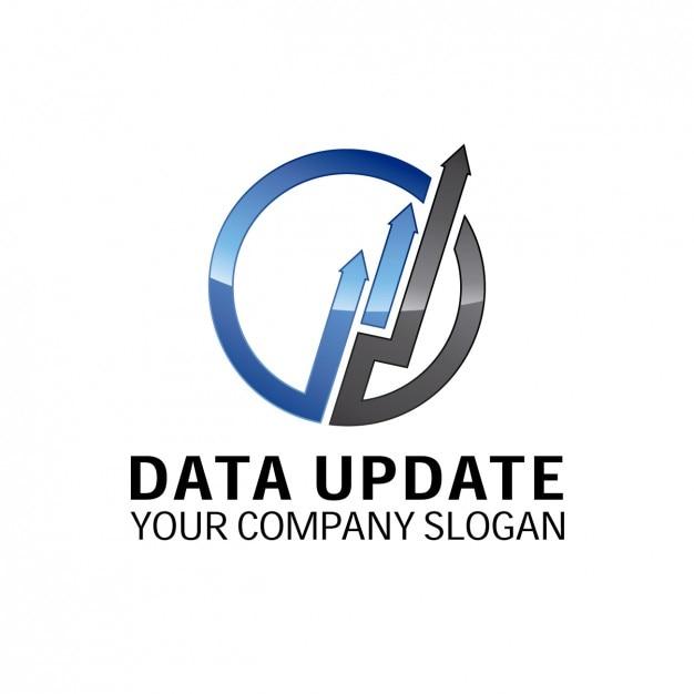 Обновление данных логотип Бесплатные векторы