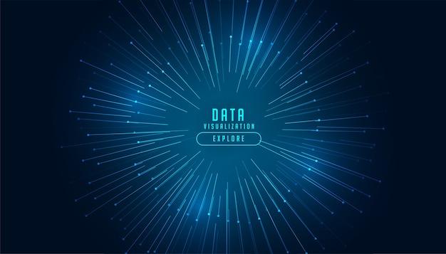 データ視覚化概念技術の背景 無料ベクター