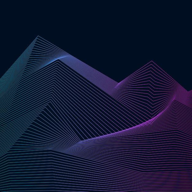 Data visualization dynamic wave pattern Free Vector