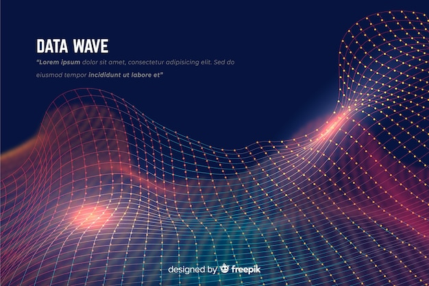 Data wave background Free Vector
