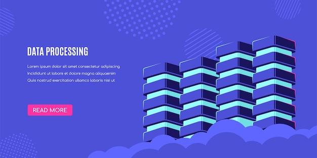 База данных, обработка данных. Premium векторы