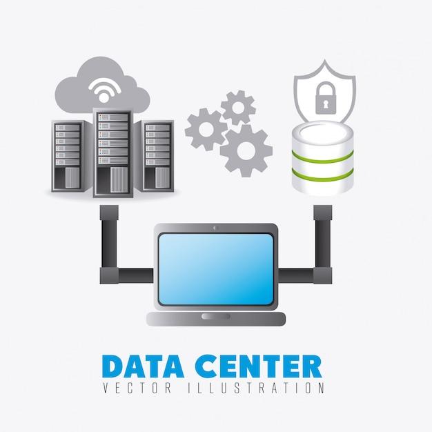 Database digital design. Premium Vector