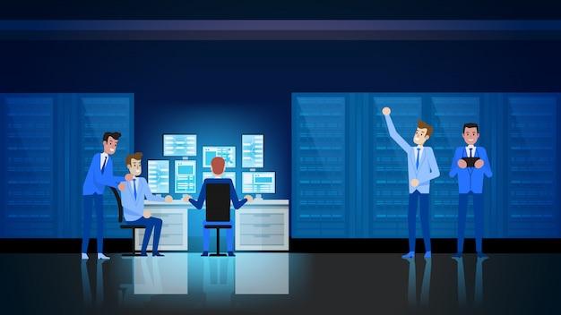 Datacenter technology Premium Vector