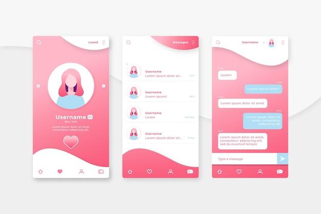 オンラインの人々の間でデートのアプリチャット 無料ベクター