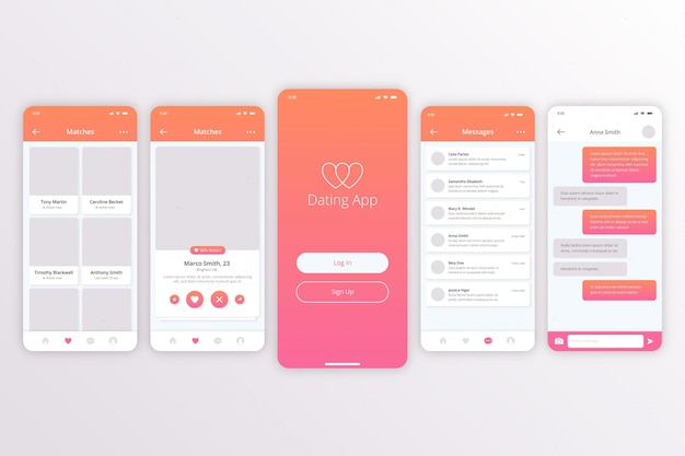 Dating app concept Free Vector