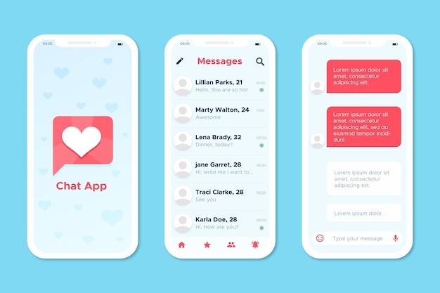 出会い系アプリのコンセプト 無料ベクター