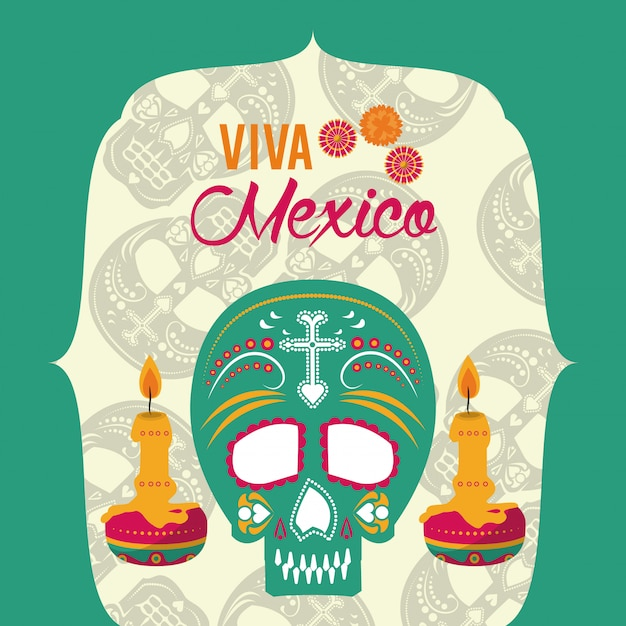 Day of the dead banner Premium Vector