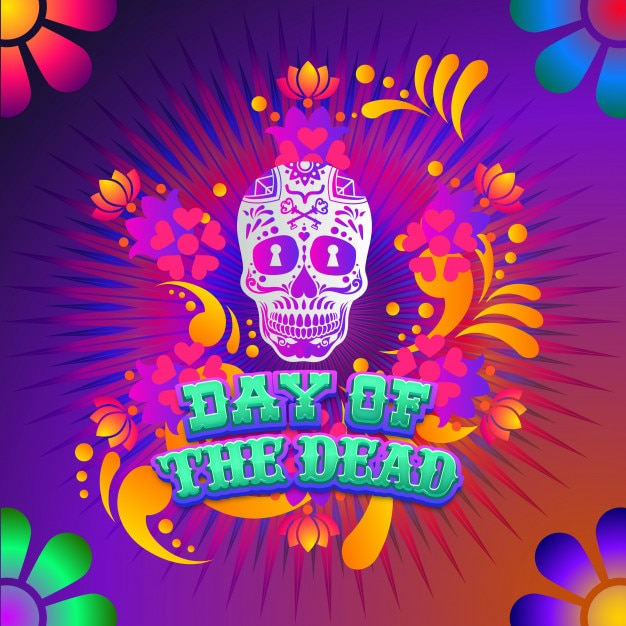 Day of the dead inspiration cartel Premium Vector