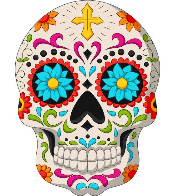 Day of the dead skulls Premium Vector