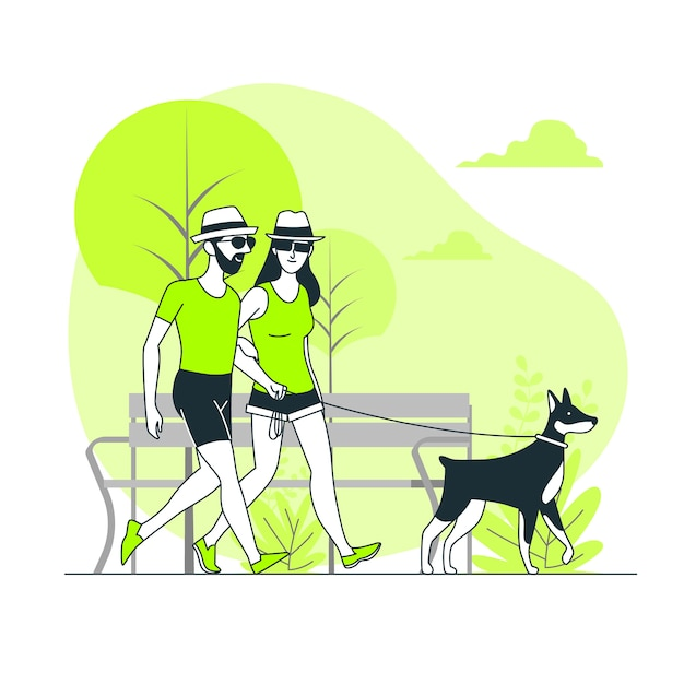 A day at the park concept illustration Free Vector