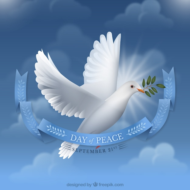 Day of peace background Free Vector