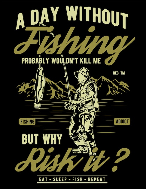 A day without fishing Premium Vector