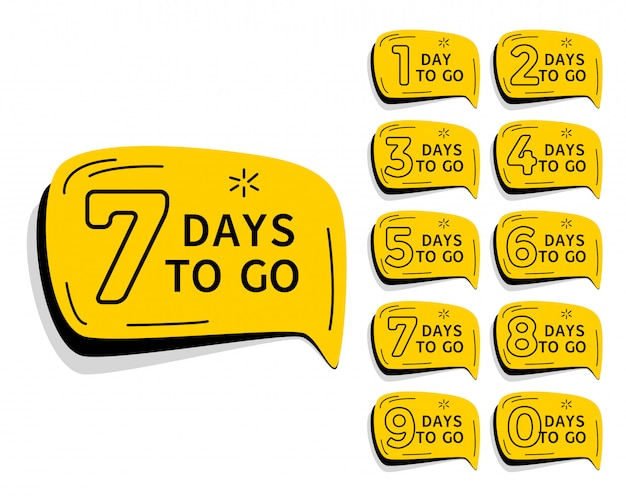 Days left countdown timer for sale and promotion Premium Vector