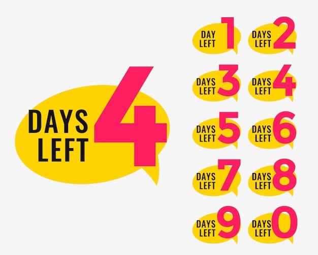Days left promotional banner for marketing Free Vector