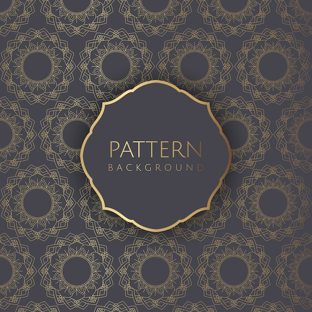 Ddecorative pattern background 2 Free Vector