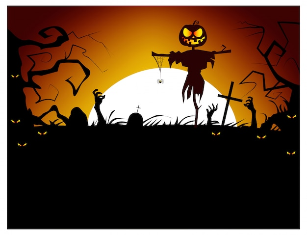 Dead men coming out of ground illustration Free Vector