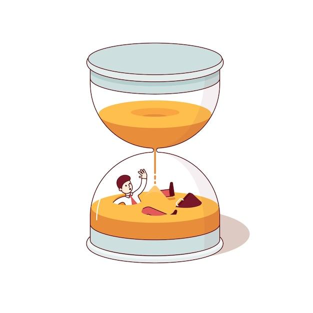 Крайний срок и время - это денежные концепции Бесплатные векторы
