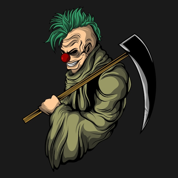 Deadly clown Premium Vector