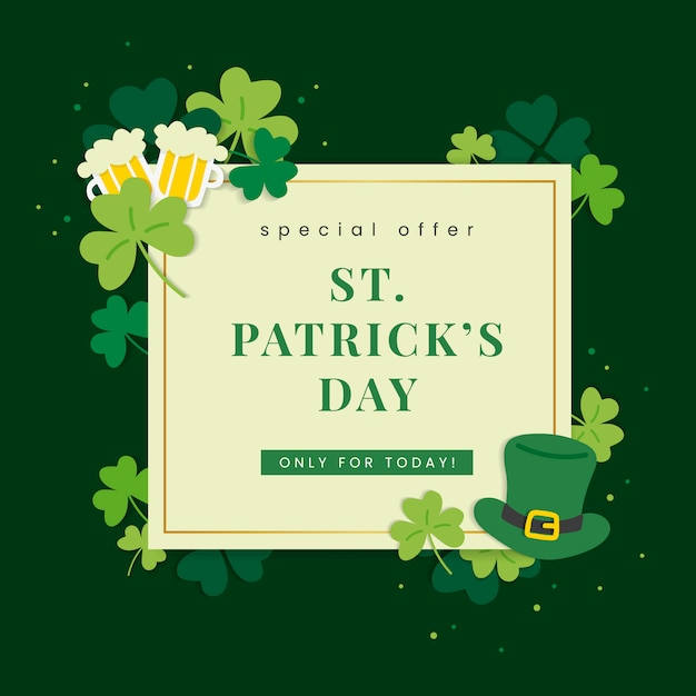 Deal for st patricks day Free Vector