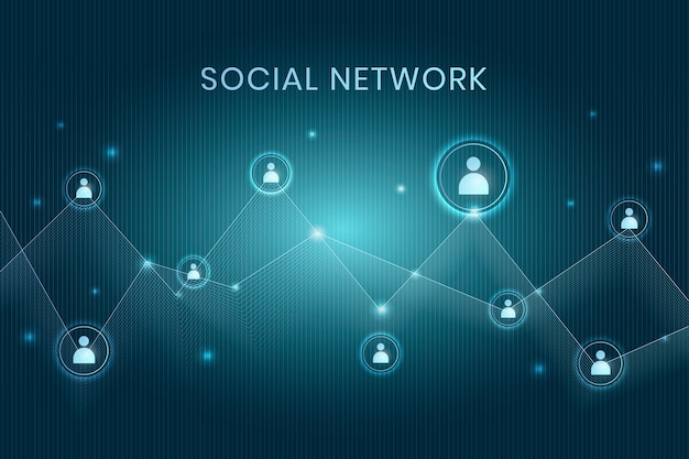Decentralized social network Free Vector
