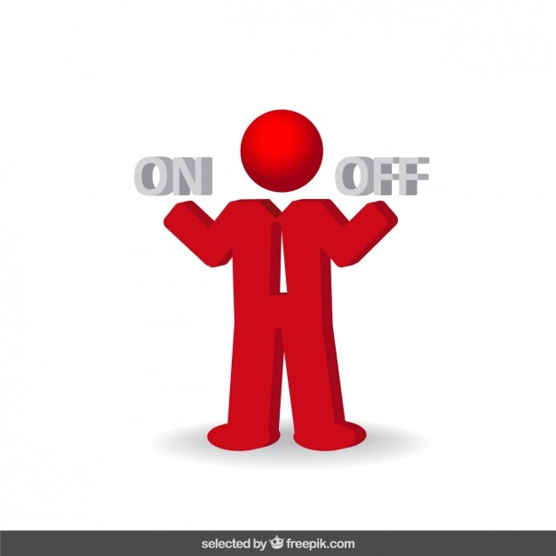 Decision businessman red icon